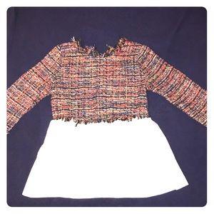 Zara Tweed Top